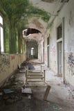 El edificio abandonado del hospital llamó Mombello Imagenes de archivo