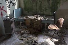 El edificio abandonado del hospital llamó Mombello Fotos de archivo libres de regalías