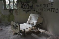 El edificio abandonado del hospital llamó Mombello Imagen de archivo libre de regalías