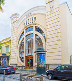 El edificio de Apollo Cinema Fotografía de archivo libre de regalías