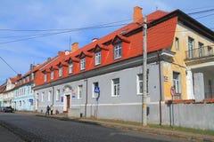 El edificio de la administración del distrito de Ozyorsk Imagenes de archivo