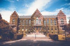 El edificio de la biblioteca de universidad en Lund, Suecia El buil Foto de archivo libre de regalías