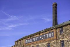 El edificio de la cerámica de Middleport adentro alimenta en Trent, Staffordshire, Reino Unido imagen de archivo libre de regalías