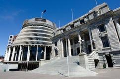 El parlamento de Nueva Zelanda Fotografía de archivo