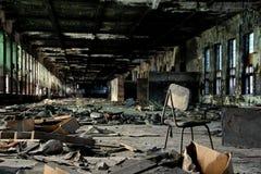 El edificio de la fábrica abandonada vieja Imagen de archivo