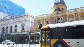 El edificio de la fachada de Adelaide Arcade es una arcada que hace compras de la herencia en el centro de Adelaide, sur de Austr almacen de metraje de vídeo