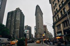 El edificio de la plancha en Manhattan Fotos de archivo libres de regalías