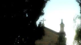 El edificio de la religión del cristianismo de la iglesia almacen de video