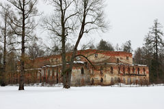 El edificio de ladrillo rojo viejo Imágenes de archivo libres de regalías