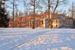 El edificio de ladrillo rojo viejo al lado del canal de Obvodny en el Alex Fotografía de archivo libre de regalías