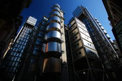 El edificio de Lloyds en Londres fotografía de archivo