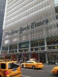 El edificio de New York Times Imagen de archivo