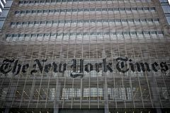 El edificio de New York Times Fotos de archivo libres de regalías