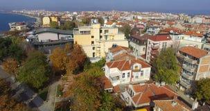 El edificio de un nuevo cine de la ciudad en el centro de Pomorie viejo en Bulgaria Imagenes de archivo