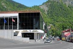 El edificio del ayuntamiento de Borjomi, Georgia Foto de archivo libre de regalías
