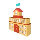 El edificio del ayuntamiento Icono de Hall Building de la ciudad solo en web del ejemplo de la acción del símbolo del vector del  Imagenes de archivo