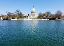 El edificio del capitolio de Estados Unidos, en Capitol Hill en Washingto foto de archivo