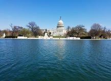 El edificio del capitolio de Estados Unidos, en Capitol Hill en Washingto fotos de archivo