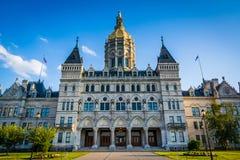 El edificio del capitolio del estado de Connecticut en Hartford, Connecticut fotografía de archivo libre de regalías