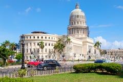 El edificio del capitolio en La Habana Fotos de archivo
