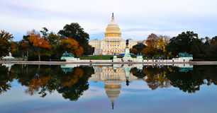 El edificio del capitolio, Washington DC, los E.E.U.U. Foto de archivo