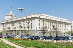 El edificio del Consejo de Ministros en Sofía central Imagen de archivo libre de regalías
