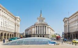 El edificio del Consejo de Ministros en Sofía central Fotos de archivo
