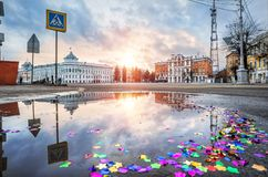 El edificio del gobierno de la región de Tver Foto de archivo