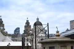 El edificio del hígado y aduanas de Albert Dock en Liverpool en Merseyside en Inglaterra Imágenes de archivo libres de regalías