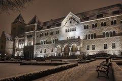 El edificio del Neo-románico del castillo imperial Fotos de archivo