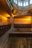 El edificio del Nilometer, un dispositivo egipcio antiguo de la medida del agua medía el nivel de río el Nilo, río el Nilo, El Ca fotografía de archivo