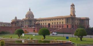 El edificio del parlamento de Nueva Deli, la India imagen de archivo
