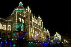 El edificio del parlamento en Victoria Foto de archivo libre de regalías