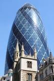 El edificio del pepinillo en Londres Fotos de archivo libres de regalías