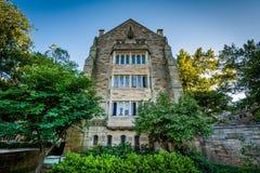 El edificio del sur de Berkeley College en Yale University, en el Ne imágenes de archivo libres de regalías