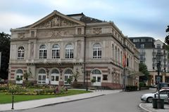 El edificio del teatro Baden-Baden alemania Construido en 1860-1862 Foto de archivo