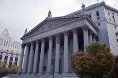 El edificio del Tribunal Supremo del Estado de Nueva York imagenes de archivo