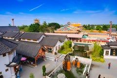 El edificio en la ciudad de China en Dragon Museum Imagen de archivo
