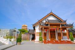 El edificio en la ciudad de China en Dragon Museum es señal para el chino tailandés Imagenes de archivo