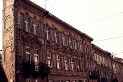 El edificio en Lviv Foto de archivo