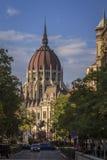 El edificio húngaro del parlamento Imagen de archivo