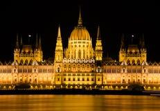 El parlamento húngaro en Budapest, Hungría Imágenes de archivo libres de regalías