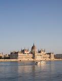 El edificio húngaro espléndido del parlamento. Fotografía de archivo libre de regalías