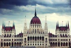 El edificio hermoso del parlamento húngaro de Budapest Imagen de archivo