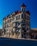 El edificio histórico clásico de la confianza de Missouri en Sedalia, Missouri muestra a vintage la arquitectura americana que fu fotografía de archivo libre de regalías