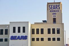 El edificio histórico de Sears Roebuck en Hackensack, NJ Foto de archivo libre de regalías