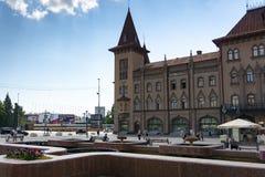 El edificio histórico del invernadero del estado en Saratov fue construido en 1902 foto de archivo