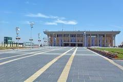 El edificio israelí del parlamento en Jerusalén, Israel Foto de archivo