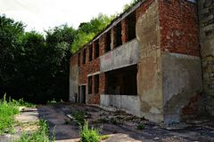 El edificio más nuevo en Skrytin Imagen de archivo libre de regalías