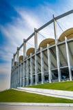 El edificio moderno de la arena nacional en Bucarest Imagenes de archivo